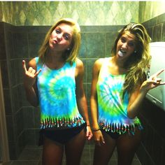 Tie dye and beaded tanks we made