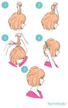 penteados básicos volume atrás