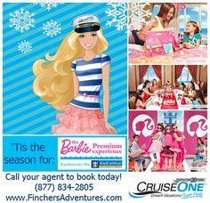 #Travel #cruise #vacation #royal Caribbean #Barbie #Christmas #cruiseone  www.finchersadventures.com