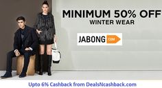 Jabong winter wear sale, get upto 50% off on winter wear. Plus you can earn upto 6% cashback from dealsncashback.com #dealsncashback #cashback #cashbackoffers #cashbackindia #fashion #onlineshopping