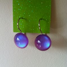 Blurple duo chrome earrings