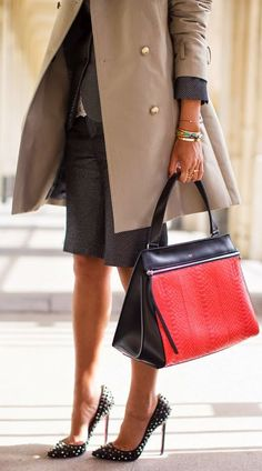 Red And Black City Chic Tote
