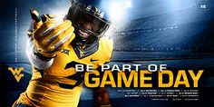 The 2017 football schedule poster was released on Sunday evening. American Football, Football Poses, Sports Graphic Design, Sport Design, Sports Illustrated Models, Sports Marketing, Football Design, College Football, Wvu Football
