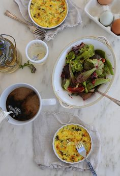 Kale and feta crustless quiche #vegetarian