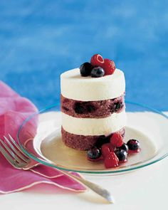 Individual Red, White, and Blueberry Layer Cakes Recipe   Martha Stewart