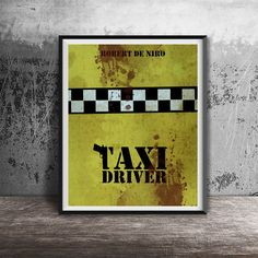 Movie poster printTaxi drivr movie poster by OandBstudios on Etsy