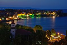 Twilight in Sozopol II (At the Seaside Resort in Bulgaria, Europe)