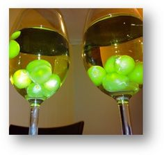 Freeze grapes to chill white wine without watering it down
