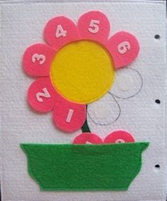 Educational Studies on Numbers at Home – Preschool Activity Faliye … – Toys Ideas Diy Quiet Books, Baby Quiet Book, Felt Quiet Books, Spring Crafts For Kids, Diy For Kids, Montessori Activities, Toddler Activities, Diy Arts And Crafts, Felt Crafts