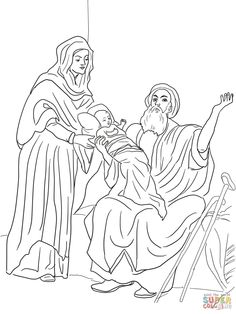Baby Jesus In The Temple Coloring Page From Nativity Category Select 25651 Printable Crafts Of Cartoons Nature Animals Bible And Many More