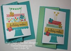 Build A Birthday Class: Joy Fold Cake Cards Christmas Date, Christmas Countdown, Joy Fold Card, Washi Tape Cards, Scrapbook Quotes, Stamping Up, Kids Cards, Stampin Up Cards, Cardmaking