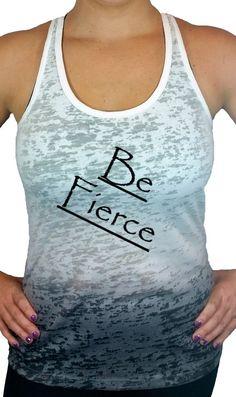 Items similar to Womens Workout Be Fierce Ombre Burnout Tank Top 307b5ec6c