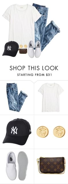 """Can't wait for Yankee games this sumemr"" by prep-eq ❤ liked on Polyvore featuring J.Crew, Madewell, New Era, Brooks Brothers, Vans and Louis Vuitton"