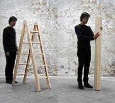 The Corner Ladder for Small Spaces | #Furniture #Ladder #InteriorDesign |