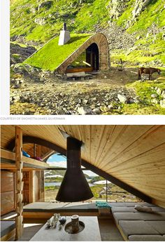 10 Unbelievable Hidden Homes is part of architecture - You may not know they're there, but check out ten amazing secret houses that are worthy of discovery Tiny House Cabin, Tiny House Design, Modern House Design, Home Design, Maison Earthship, Earthship Home, Casa Dos Hobbits, Secret House, Underground Homes