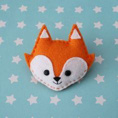 Super cute Fox Felt Brooch by hannahdoodle on Etsy, $12.00