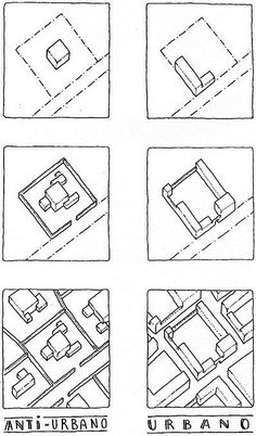 Urban and anti-urban forms of enclosure by Léon Krier. Duh images that our American culture does not understand Urban Design Concept, Urban Design Diagram, Urban Design Plan, Concept Architecture, Architecture Drawings, Urban Architecture, Leon Krier, Urban Ideas, New Urbanism