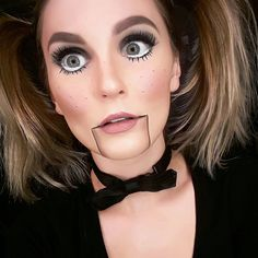Dummy Halloween Makeup