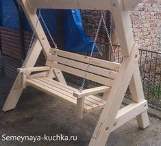 What Is Organic Gardening A Frame Swing, Wood Swing, Diy Wood Projects, Outdoor Projects, Wood Crafts, Pallet Patio Furniture, Wood Furniture, Furniture Dolly, Woodworking Plans