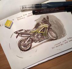 Suzuki motorcycle sketch