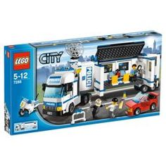 Move to the action with the Mobile Police Unit! Move the LEGO® City Mobile Police Unit into action using the detachable cab, prison trailer and hi Lego City Police Sets, Lego City Police Station, Lego City Sets, Toys R Us, Kids Toys, Legos, Construction Lego, Red Sports Car, Lego Toys