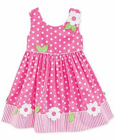 Blueberi Boulevard Baby Girls' Polka-Dot Dress Kids Dress Wear, Little Girl Outfits, Little Girl Fashion, Toddler Girl Dresses, Toddler Outfits, Fashion Kids, Kids Outfits, Baby Outfits, Girls Frock Design