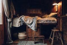 "robert-hadley: ""Settle Norfolk - The Lakeside Cabin by Haarkon "" Norfolk, Lakeside Cabin, Concrete Interiors, Vintage Caravans, Ivy House, Tumblr, World Of Interiors, Cabin Interiors, Hadley"