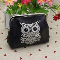 Chic Black Owl Purse