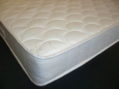 """5ft Bournemouth Mattress - £294.95 - The Bournemouth is a """"flat top"""" mattress for those who do not like tufts and uses a patented spring system which has twice as many springs as a conventional mattress for superior support. The spring system is a """"no roll together"""" construction, developed in Switzerland and built here in England to our exact specifications by trained craftsmen. Suitable for use on any kind of base. Bournemouth, Mattresses, Switzerland, Craftsman, England, Construction, Base, Flat, Luxury"""