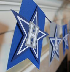 Dallas Cowboys Birthday Banner by PeaceofPaperStudio on Etsy