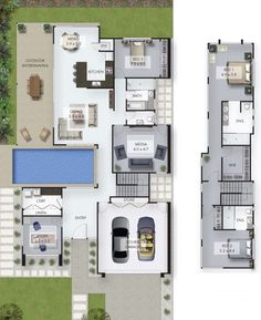 """Receive fantastic suggestions on """"outdoor kitchen designs floor plans"""". They are accessible for you on our web site. Home Design Floor Plans, House Floor Plans, Custom Home Designs, Custom Home Builders, Home Garden Design, House Design, Australia House, Model House Plan, Study Nook"""