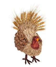 Another great find on #zulily! Sisal Grass Standing Turkey Figurine #zulilyfinds