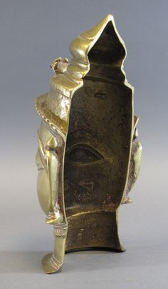 A BRASS LINGAM COVER Western India, probably Maharashtra, 18th/19th century in the form of a ma