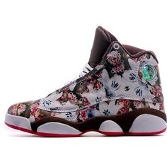 separation shoes d2845 23840 New Released Girls Air Jordan 13 GS Floral White Brown Red Discount Sale Women  Air Jordan 13 - Nike official website Up to discount