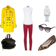 d&g shirt // joe's jeans // burberry london trench // mulberry flats // givenchy bag // fendi watch // h&m sunglasses