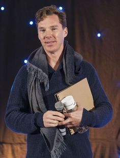 Benedict Cumberbatch was the guest of honour at the Sherlock Holmes convention at Birmingham's NEC Metropole Hotel.