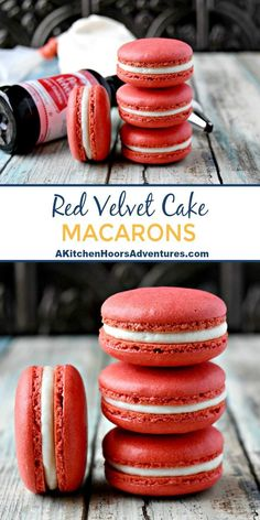 With amazing flavor, these Red Velvet Cake Macaron are the perfect way to show y. - With amazing flavor, these Red Velvet Cake Macaron are the perfect way to show y. Macaron Filling, Macaron Cake, Macaroon Cookies, Cupcake Cakes, Cupcakes, Köstliche Desserts, Delicious Desserts, Dessert Recipes, Italian Desserts