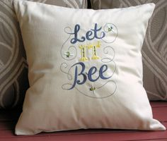 Pillow Cover Let It Bee Pillow Cover  by CustomizedGiftForYou