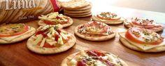 Mini pizza de bolacha