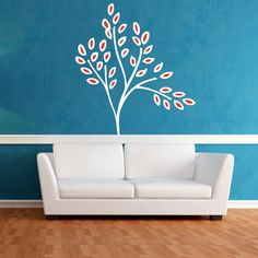 Nursery Tree with Playful Leaves Wall Decal | Wall Decal World