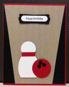 Bowling Punch Art Stampin Up Birthday Card Kit 5 Cards | eBay
