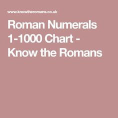 Roman Numerals  Google Search  Maths
