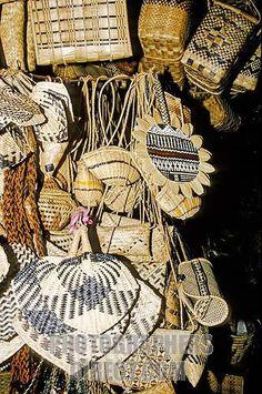 Handicrafts for sale, Viti Levu, Fiji