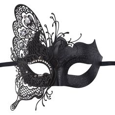 Masquerade Mask,Coxeer Butterfly Laser Cut Metal Mardi Gras Mask Party... ($15) ❤ liked on Polyvore featuring jewelry