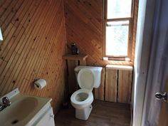 Bathroom on Reservoir Gouin 3  - Cabin on Reservoir Gouin 3 for unique a fly-in fishing experience in Northern Quebec - You'll enjoy our outfitter! | #flyin #fishing #walleye #northernpike
