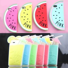 Victoria's Secret PINK Watermelon Fruit Silicone Soft Rubber Case Fo iPhone 5S 5 #UnbrandedGeneric