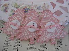 Tree Embellishments- love the patterned paper and buttons