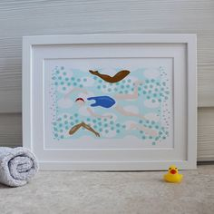 swimming print by pelton64 | notonthehighstreet.com