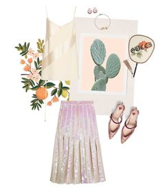 """""""Soft Hue"""" by jckyleeah ❤ liked on Polyvore featuring Rifle Paper Co, Urban Outfitters, Christopher Kane, Prabal Gurung, Gucci and Oui"""
