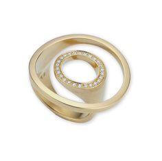 Angela Hubel - Gold Diamond Atoll Ring - ORRO Contemporary Jewellery Glasgow - www.orro.co.uk